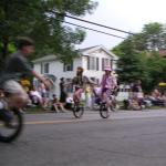 Unicycles at the Ithaca Festival